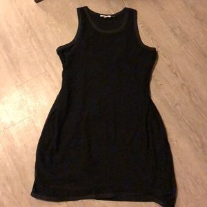 Calvin Klein Black Lined Mesh Dress